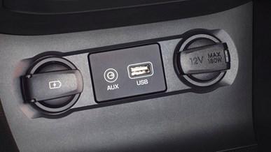 USB- og AUX-indgang
