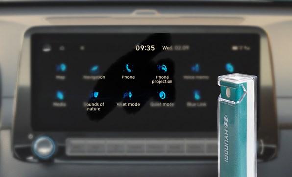 2-i-1 skærmrens inkl. holder til din smartphone